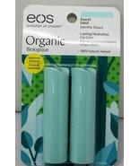 (Lot of 2) EOS Organic Lip Balm Stick Sweet Mint 0.28 Ounce 2 Pack (Tota... - $12.19