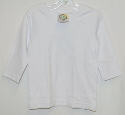 Blanks Boutique Boys Long Sleeve White Tee Shirt 12 Months