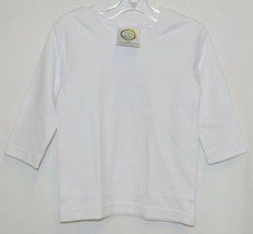 Blanks Boutique Boys Long Sleeve White Tee Shirt 12 Months image 1