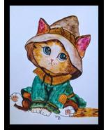 Oz Scarecrow Kitten Artwork - $25.00