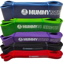 MummyStrength Resistance Bands for Men and Women. The Best Stretch Band for Pull