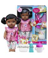 Year 2013 Baby Alive 12 Inch Doll Set - African American BRUSHY BRUSHY BABY - $79.99