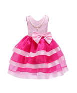 Sexy Pink Pricess Wedding Flower Girls Dresses Short Pearl Children Form... - $32.50