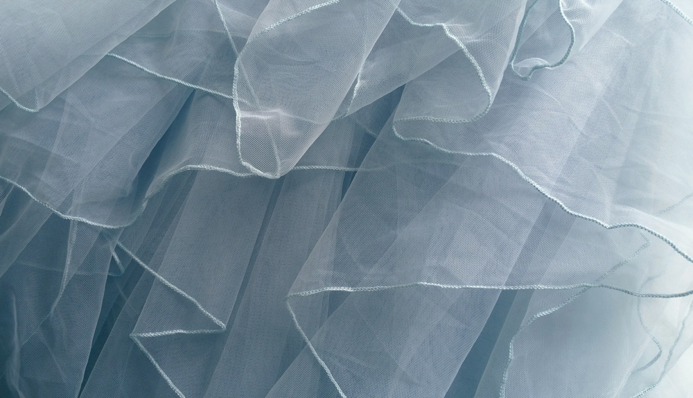 Dusty blue tulle tiered skirt 700 6