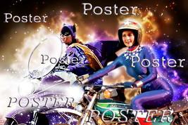 WONDER WOMAN & BATGIRL Lynda Carter Yvonne Craig POSTER Art NEW DESIGN  - $39.99
