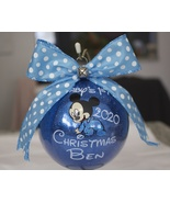 Baby's First Christmas, Baby ornament, 4'' Glass Ornament, personalized ... - $20.00