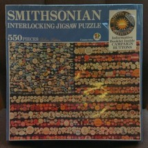 Smithsonian CAMPAIGN BUTTONS Interlocking Jigsaw 550 Piece Puzzle Deluxe... - $34.64