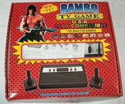 NEW NIB NOS Rambo TV Games Atari 2600 Clone legendary game console 128 Games #03 - $180.00