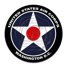 US Army Air Corps Washington DC White Star Reproduction Round Aluminum Sign - $16.09
