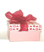 RED AND PINK  Gift Box Satin Bow   Heart Designs set of 2 VALENTINE'S DAY - $16.41
