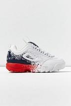 NIB Mens Fila Disruptor II Premium Sneaker*White Red Blue Splatter*Size 8-13* - $135.00