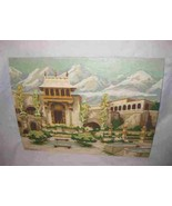 """Wonderful Vintage 12"""" X 16"""" Paint By Number Mansion Villa And Mountains ... - $114.96"""