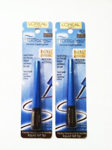 Primary image for (2-pack) L'Oreal Paris Telescopic Waterproof Eyeliner, Dark Brown 801