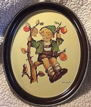 "Hummel Apple tree Boy Ars Edition 1982 Oval 14"" x 11"" Metal Tray USA made - $11.87"
