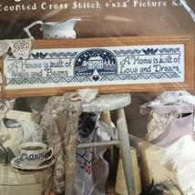 "Ursaula Michael Shabby Chic Counted Cross Stitch Kit Design Works ""Home"" 9893 - $15.14"