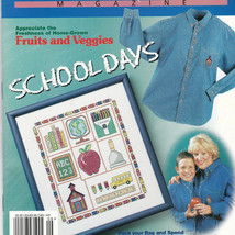 Cross Stitch Magazine Patterns 54 School Days Fruit Veggie Thanksgiving Autumn - $12.87