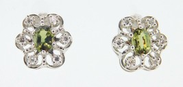 14K Gold Earrings with 1.6ct Genuine Natural Alexandrites and Diamonds (... - $2,495.00