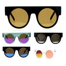 SA106 Color Mirror Retro Thick Plastic Round Circle Lens Hippie Sunglasses - $12.95