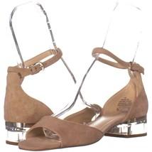 Nine West Volor Kitten Heel Sandals 196, Natural, 7 US - $28.79