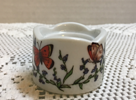 Vintage FUNNY DESIGNS W. Germany Miniature Porcelain Globe/Ball Candle Holder - $6.00
