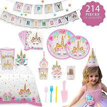 Birthday Them Party Supplies with Plates Cups Straws Tablecover for Birt... - $29.45