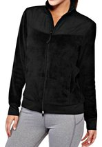 An item in the Sporting Goods category: Athletic Works Women's Full Zip Sport Fleece Jacket Black, L (12-14)