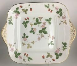 Wedgwood Wild Strawberry Handled square cake plate - $35.00