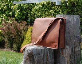 Mens Genuine Vintage Leather Satchel Messenger Man HandBag Laptop Briefc... - $54.44