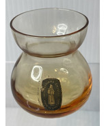 WhiteFriars Crystal Small Vintage, Amber Color Glass Posy Vase Made In E... - $19.75