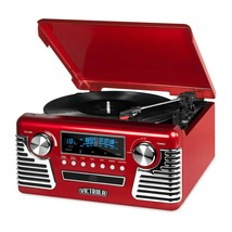 Innovative Victrola V50-200-RED Bluetooth Stereo Turntable Record Player... - £77.49 GBP