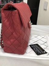 AUTHENTIC CHANEL MAXI RED PINK QUILTED SOFT CAVIAR CLASSIC FLAP BAG SHW image 3