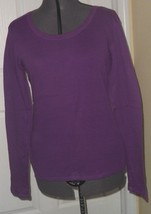 Faded Glory Ladies Knit Top Shirt Size M 8/10 Purple Lightweight Nwt - $14.99