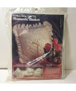 """Romantic Basket Embroidery Kit Yours Truly Pillow 20"""" Square - $14.50"""