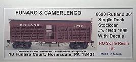 Funaro & Camerlengo HO Rutland Single Deck Stock Car #1940-1999,  Kit 6690 image 1