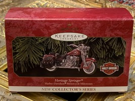 1999 HALLMARK ORNAMENT HERITAGE SPRINGER HARLEY-DAVIDSON MOTORCYCLE DIE-... - $17.55