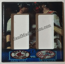NY Yankees VS Boston Red Sox Light Switch Duplex Power Outlet Wall Cover Plate image 2
