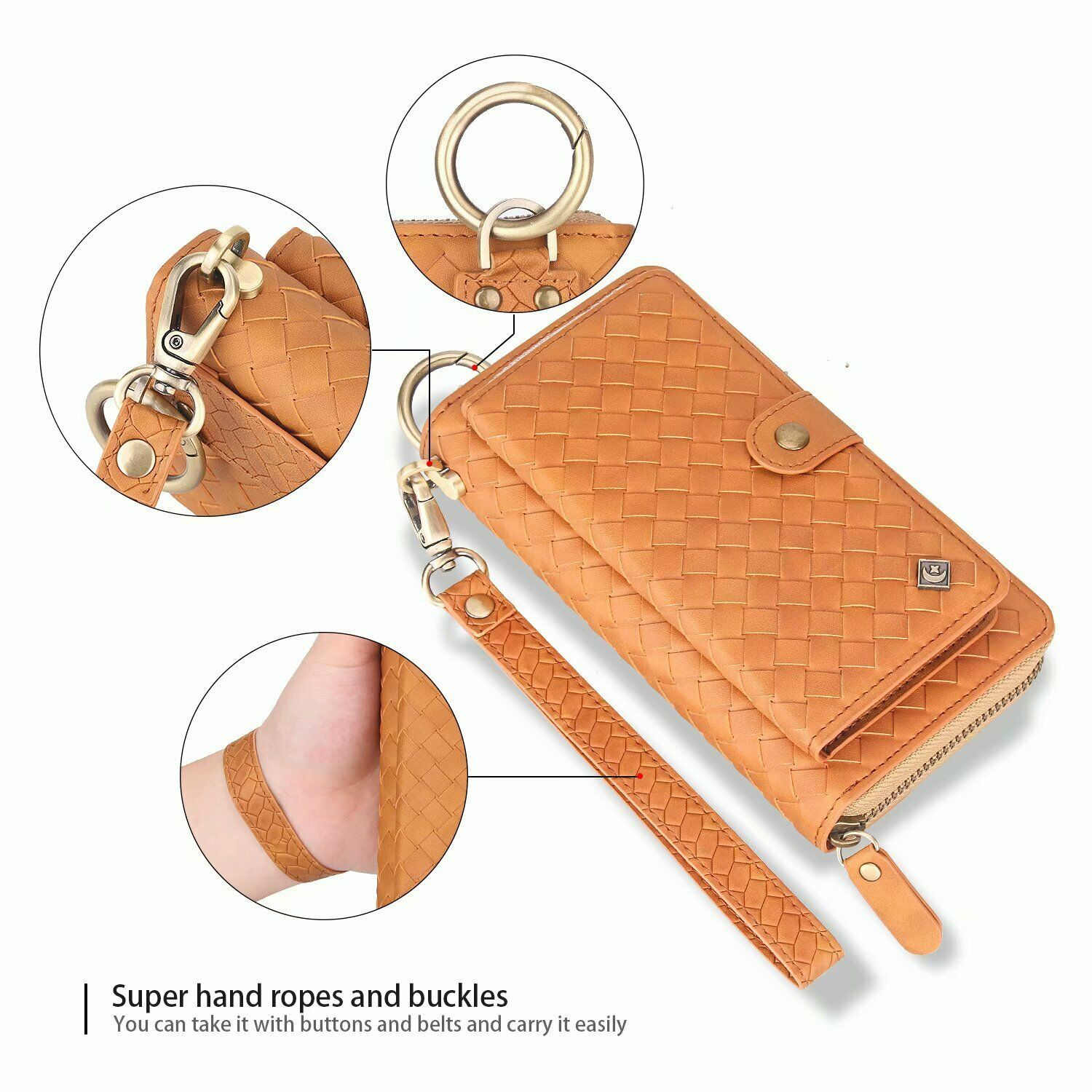 F Samsung S20 Note 20 Ultra S10 S9 S8 Removable Leather Cards Wallet Case Cover - $91.65
