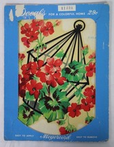Vintage Midcentury The Meyercord Company Decorating Decals Hanging Fruit... - $9.89