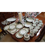 34 Pc Sango 8415 Christmas Holly Dinnerware Pla... - $175.91