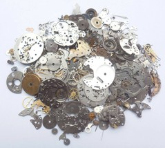 100+gram Vintage Steampunk Watch parts, Wheels Parts, other small parts. D-500