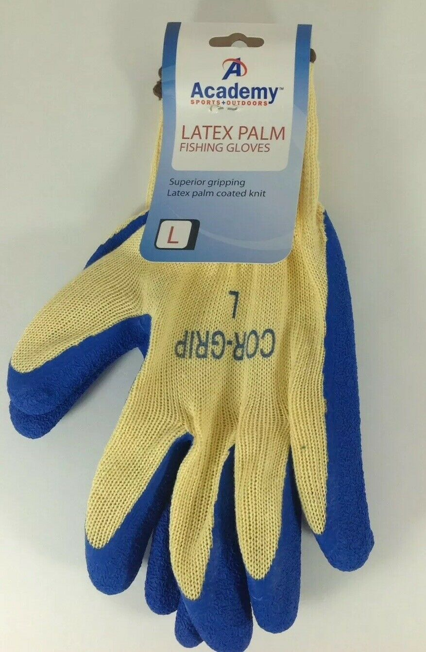 Non-Slip Fishing Gloves Latex Palm Size Large Academy Sports Protective glove