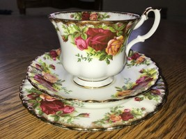Royal Albert Old Country Roses Tea Trio Vintage China Cup 2nd - $8.97