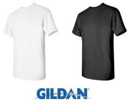 50 T-SHIRTS Blank 25 Black 25 White BULK LOT Wholesale Gildan 5000 Size: Medium - $92.00