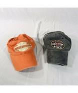 Lot Of 2 Harley-Davidson Genuine Motor Oil Patch Grey/Orange Strapback H... - $35.59