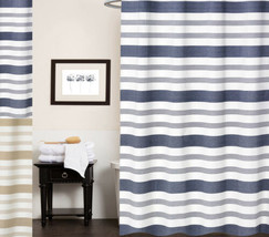 """Nowell 100% Cotton Fabric Striped Shower Curtain 70"""" x 72"""" - $30.59"""