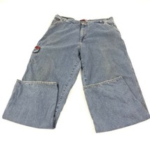 Vintage 90's Tommy Hilfiger Factory Distressed Men's Blue Jeans 38 - $39.59