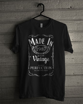 Made In 1987 T-shirt New Black T-shirt For Men's - $18.95