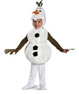 Olaf  From Frozen Deluxe Halloween Costume By Disney  3T-4T & 4-6 NWT -... - $7.85