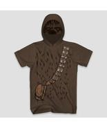 Men's Disney Star Wars Chewie Chewbacca Short Sleeve Hooded T-Shirt Brow... - $14.84