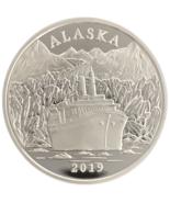 Alaska Mint 2019 Official Alaskan Cruise  Medallion Silver Medallion Pro... - $83.70